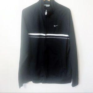 Men's Nike swoosh zip up jacket black XXL